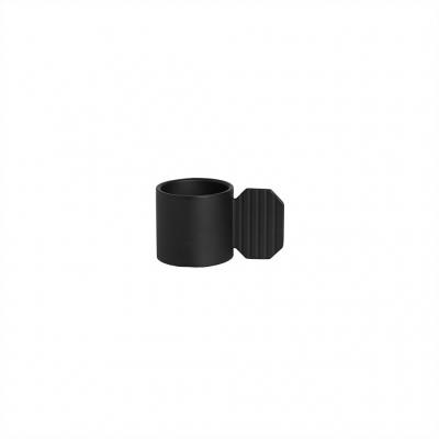 Kerzenhalter Art - hexagon schwarz