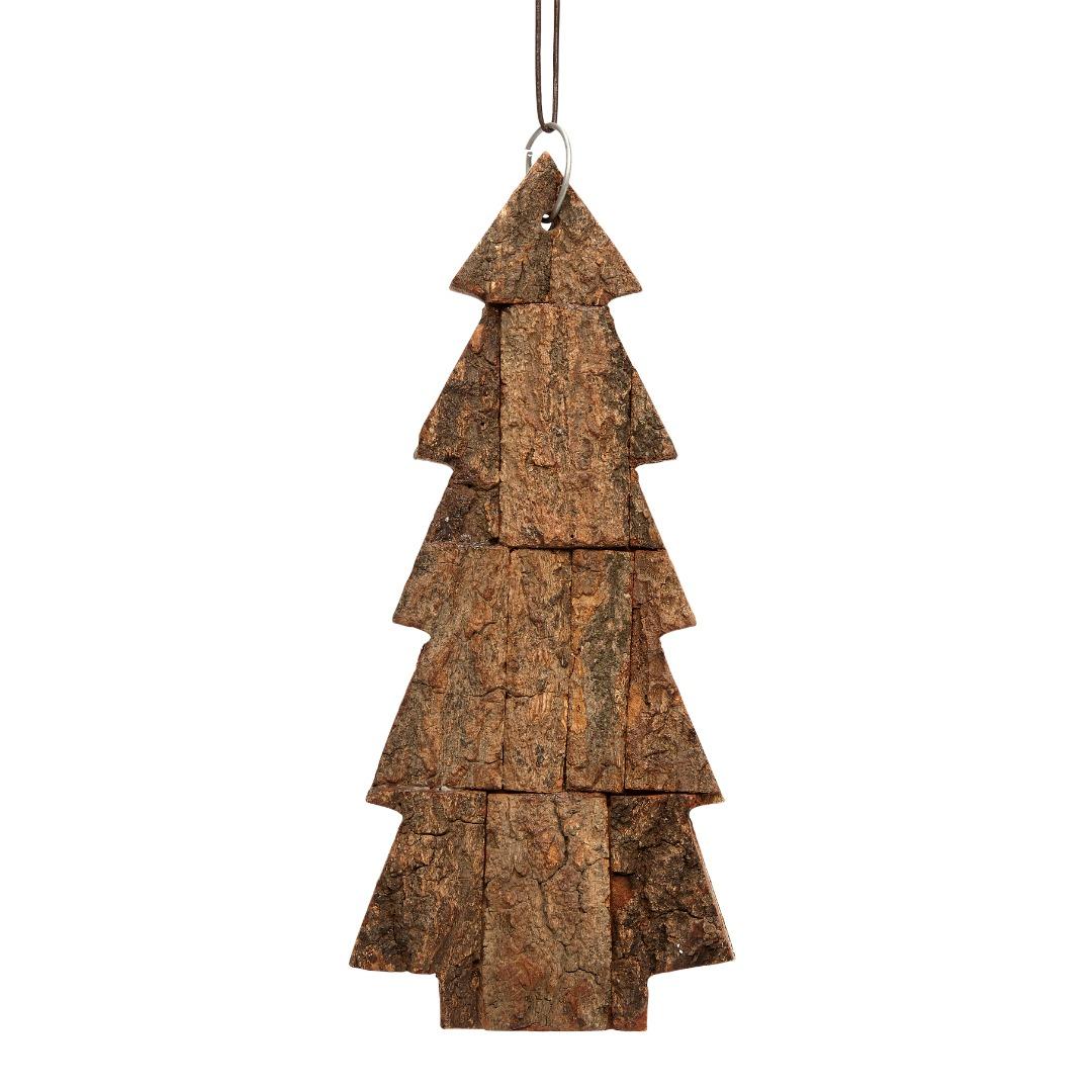 Hübsch Weihnachsbaum mit Band, Borke, natur, groß - 1