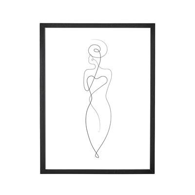 Bild mit Rahmen schwarz Frau