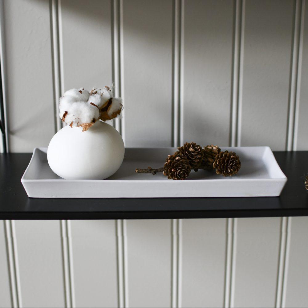 Keramiktablett hellgrau / eckig 2