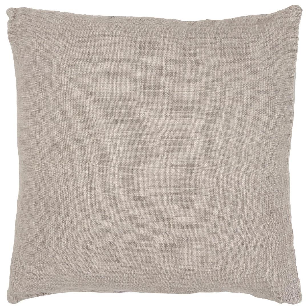 Kissenbezug aus Leinen 50x50/ lavendel&braun
