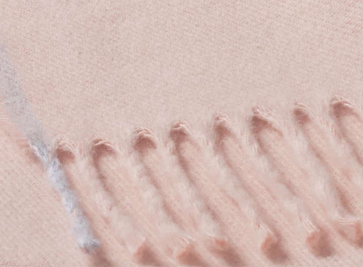 Fransenplaid rosa 130x170cm