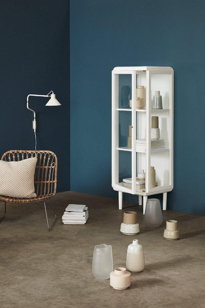 2er Vasenset Keramik/Stand in sand/weiß 2