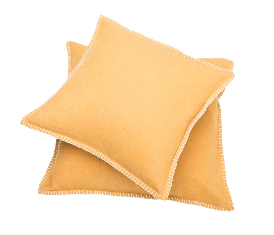 Kissenhülle SYLT / gold mit Zierstich