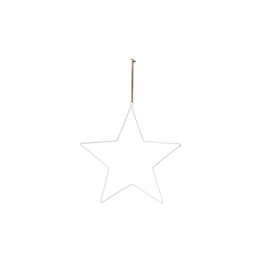 STARHOLM mittlergroßer Metallstern zum Hängen /weiß