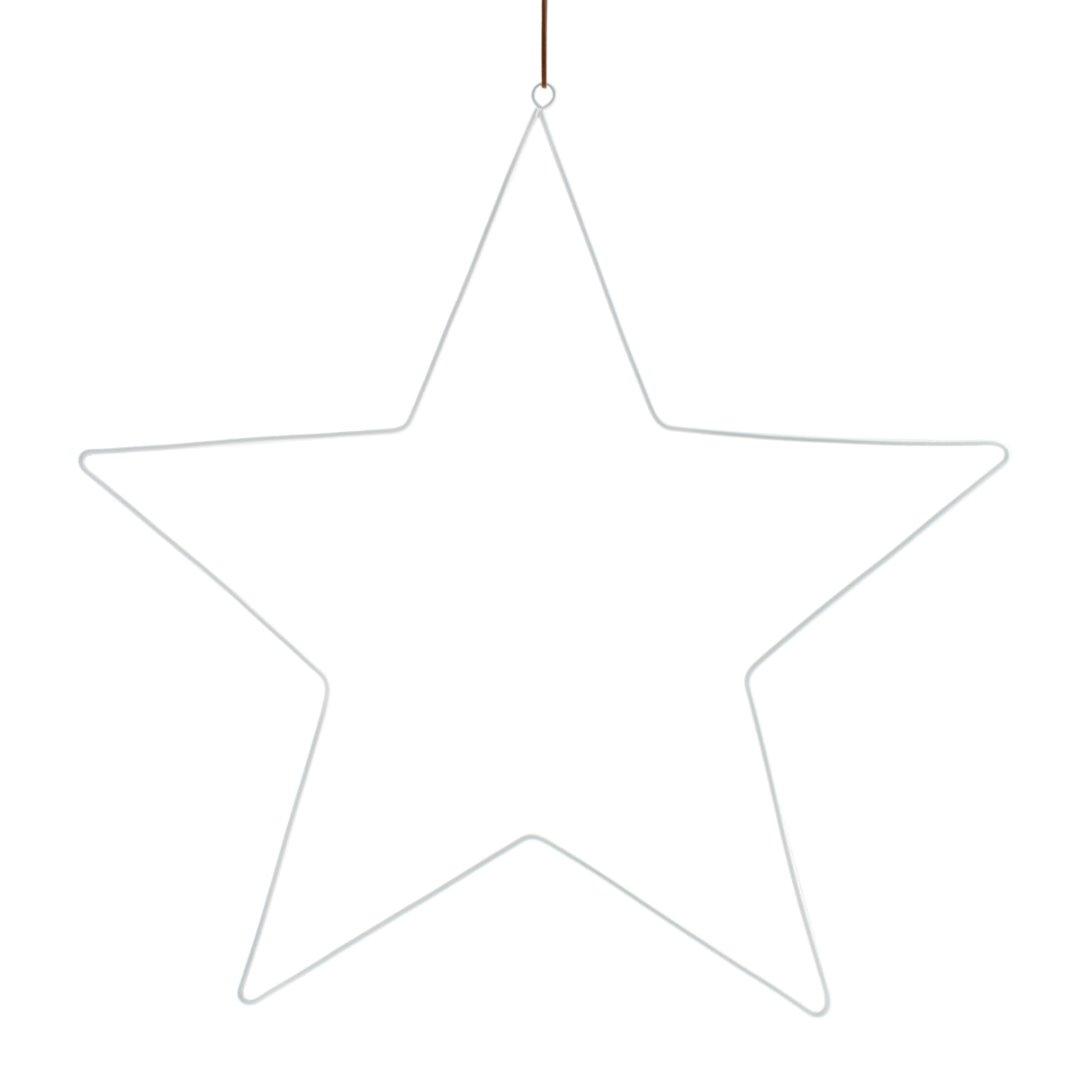 STARHOLM großer Metallstern zum Hängen /weiß
