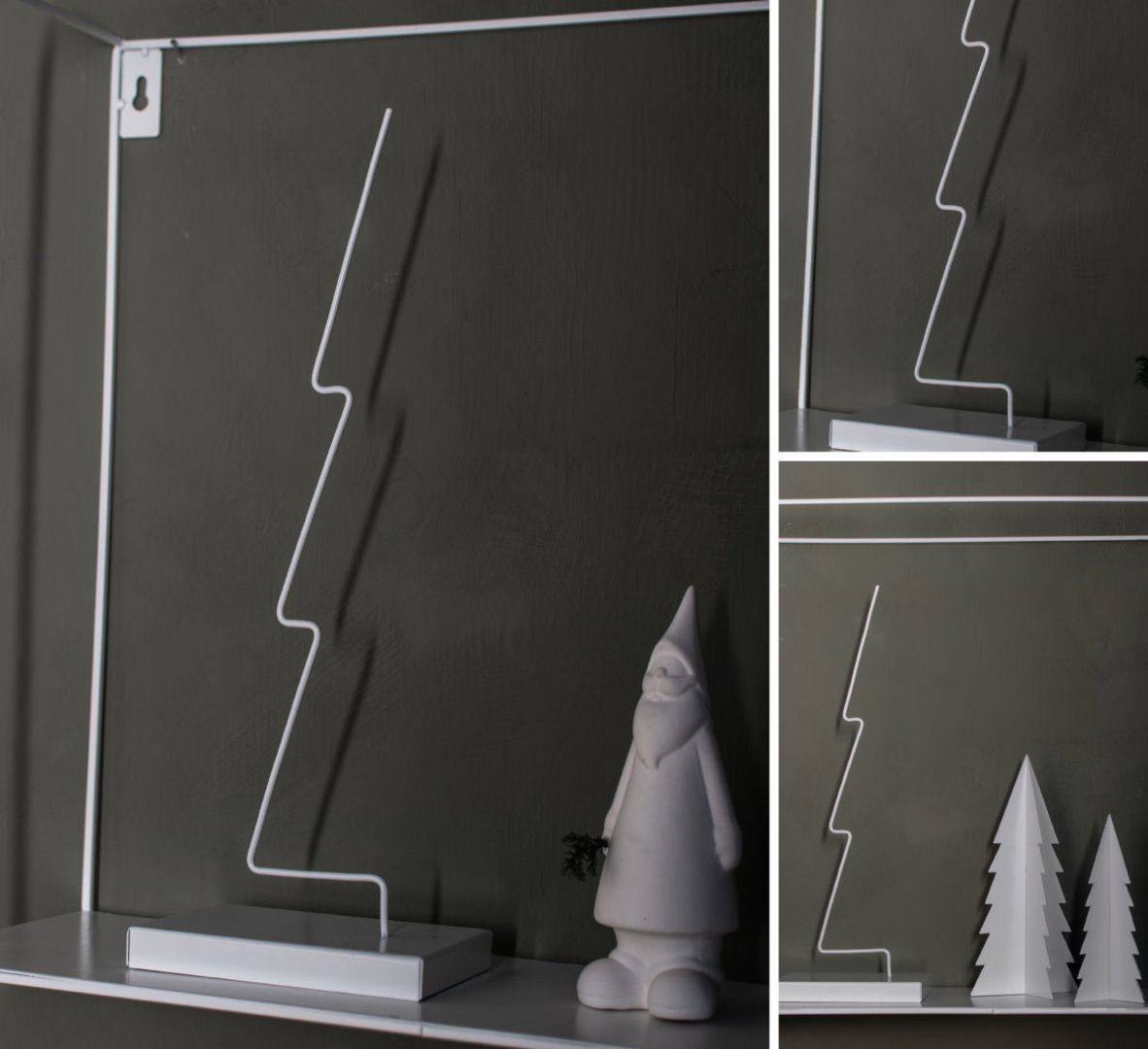 Gran- Metalldekoration / weiß 2