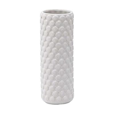 Vase Steinzeug Punkte klein