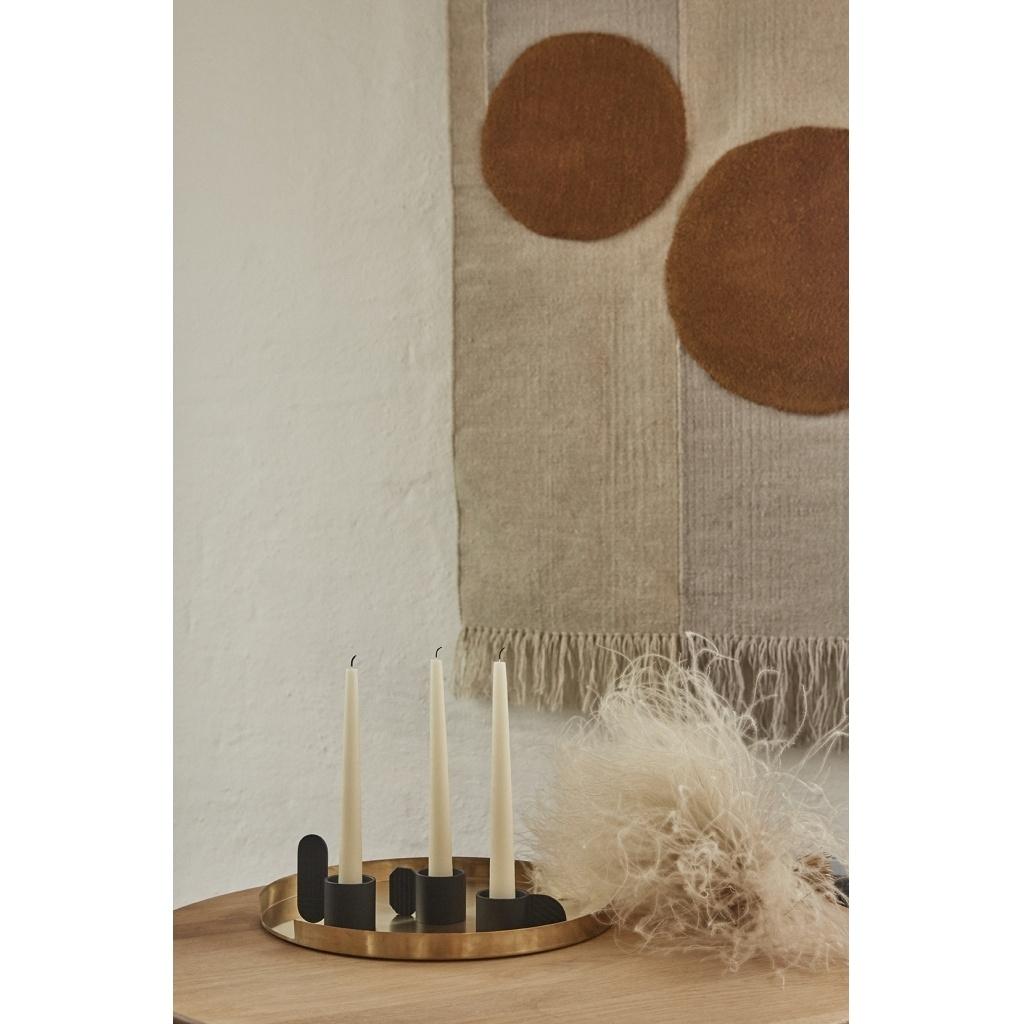 Kerzenhalter Art - circle schwarz 2