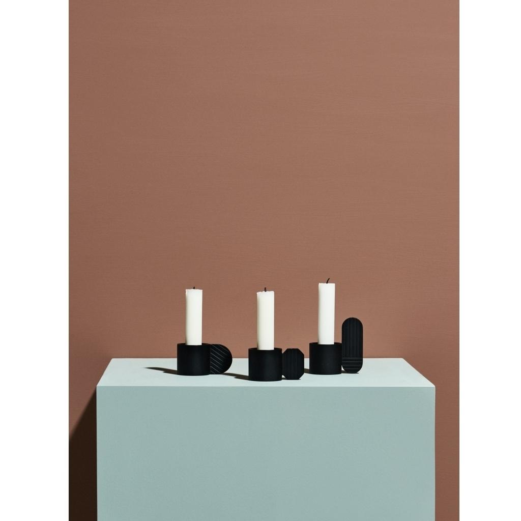 Kerzenhalter Art - hexagon schwarz 3