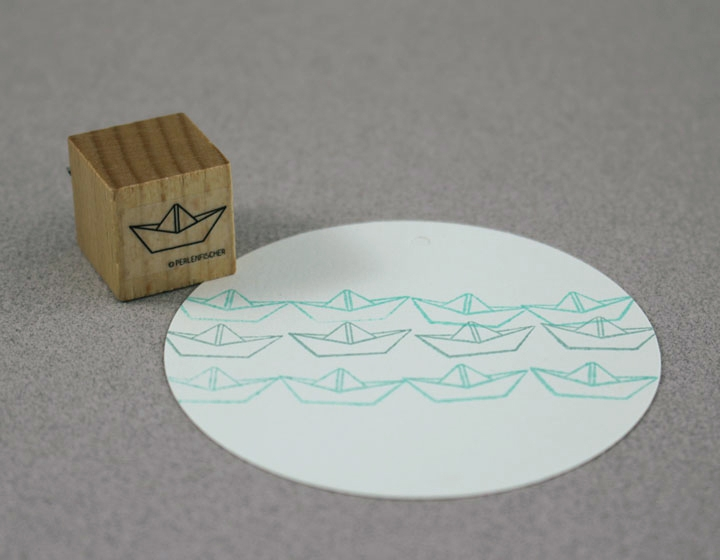 Stempel Papierschiff