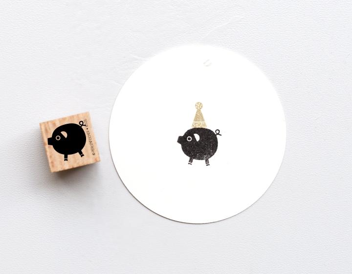Stempel Glücksschwein 2