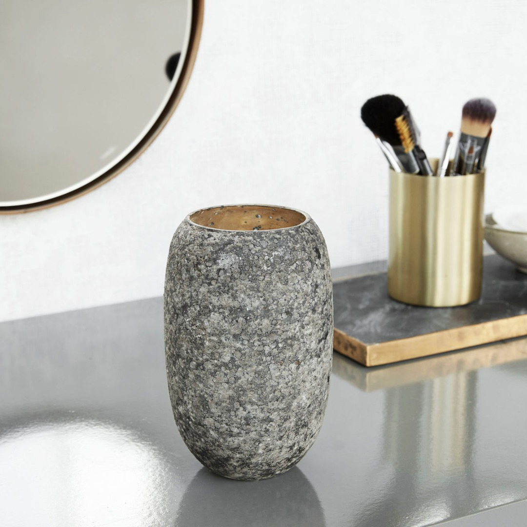 Vase Earth Grün/Grau