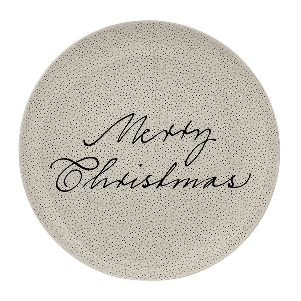 Snow Plate weiss, rund - Merry Christmas- - 1