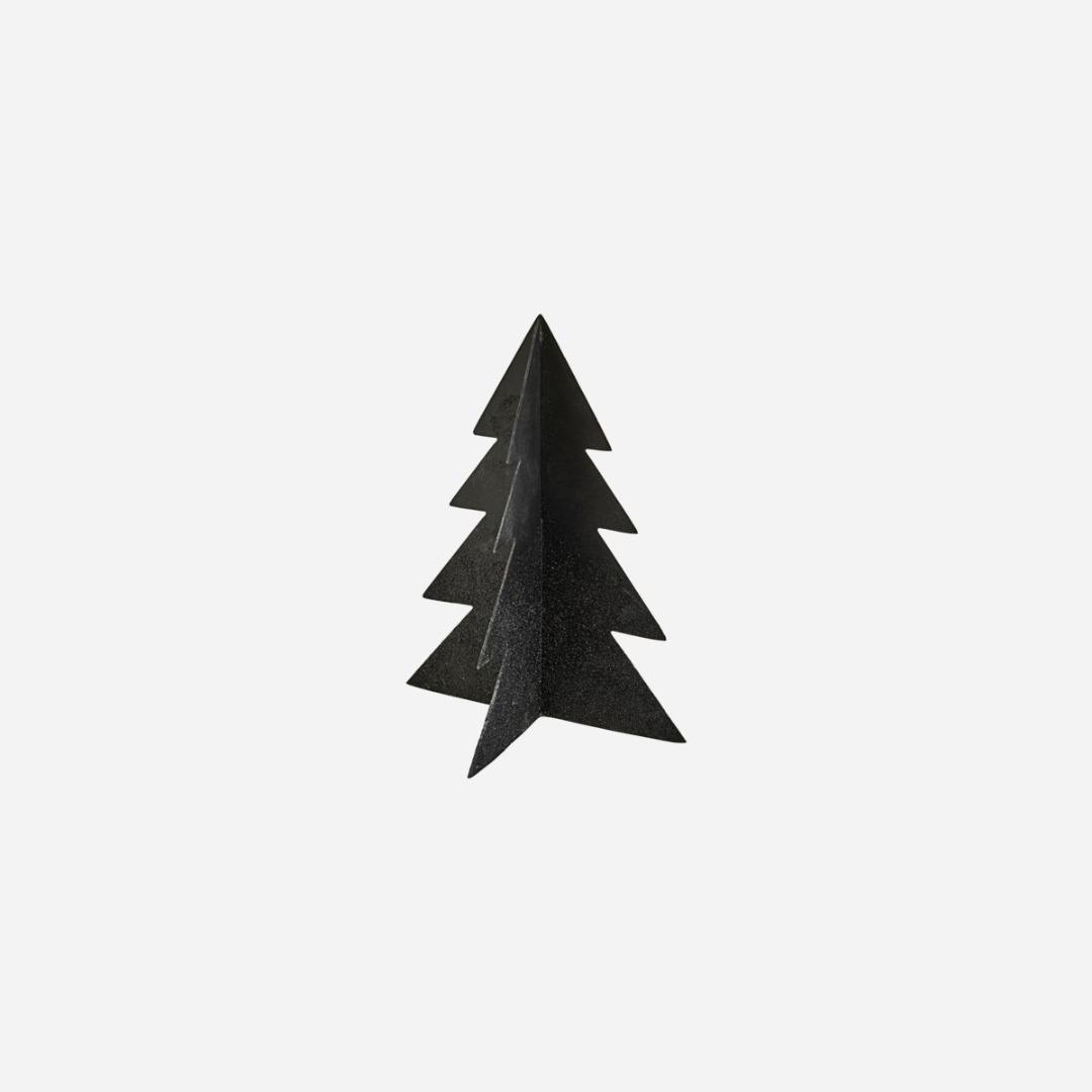 Weihnachtsbaum Glizz schwarz H: 26cm