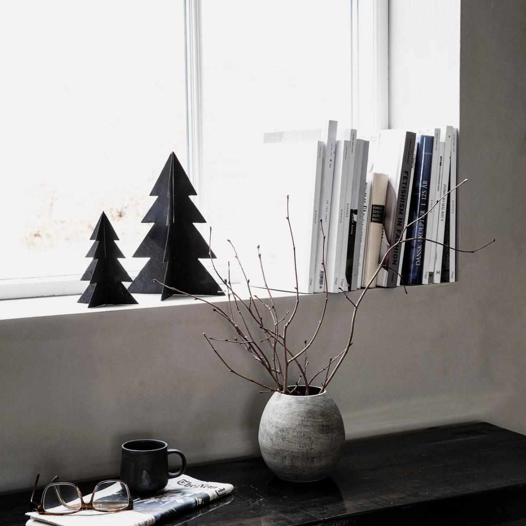 Weihnachtsbaum Glizz schwarz H: 17cm 2