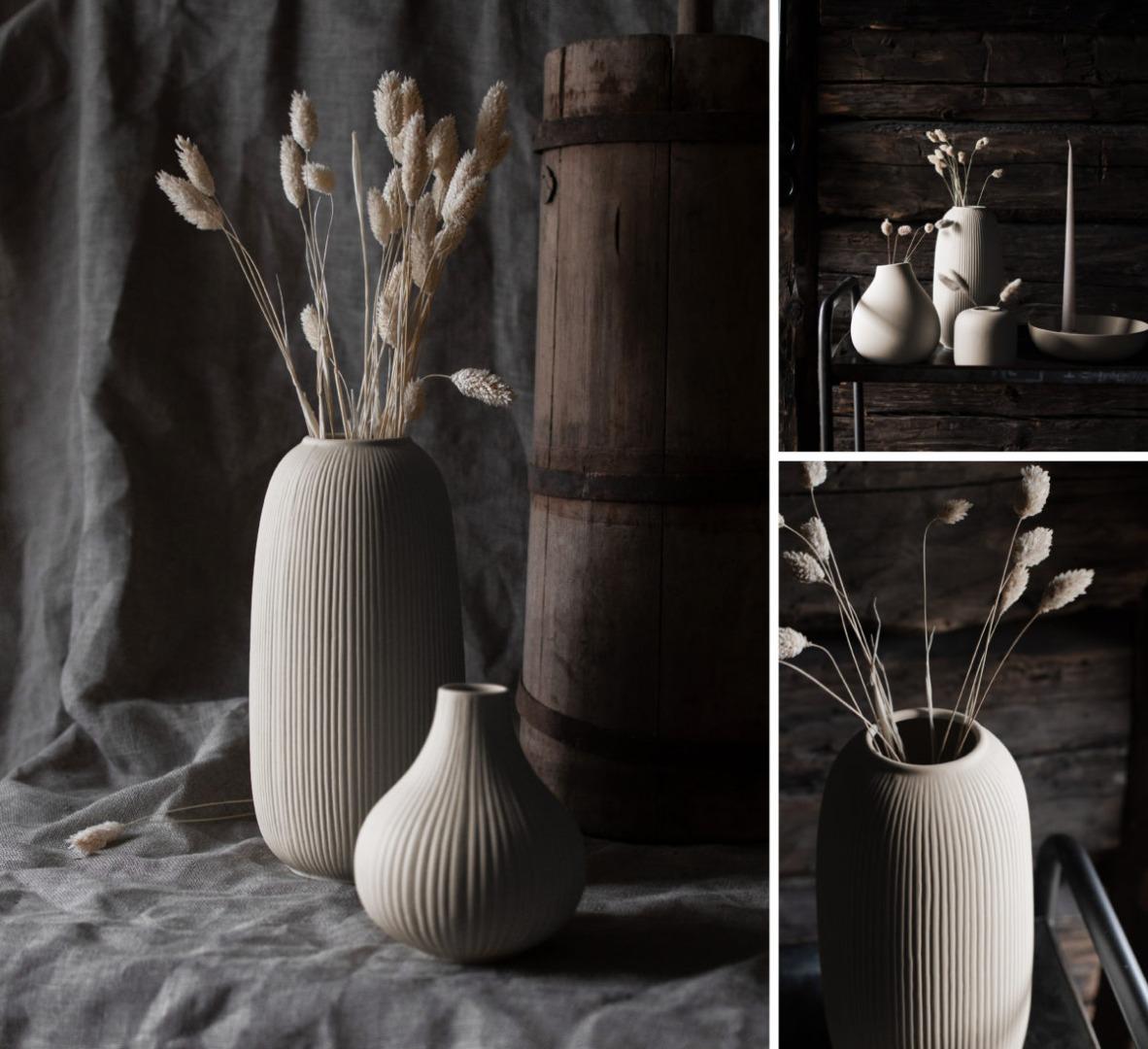 Aby Keramikvase beige 3