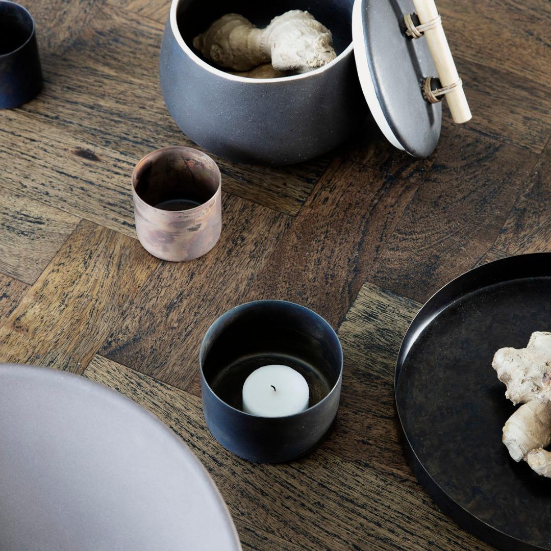Teelicht Define Antikes braun 3