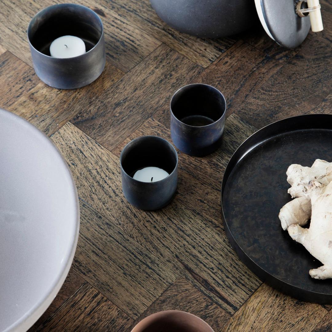 Teelicht Define Antikes braun klein 3