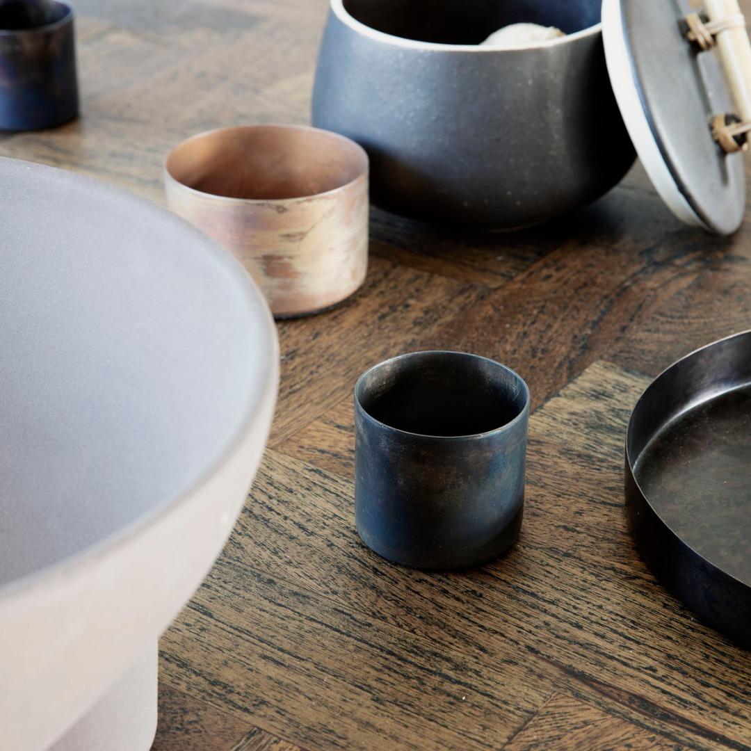 Teelicht Define Antikes braun klein 2