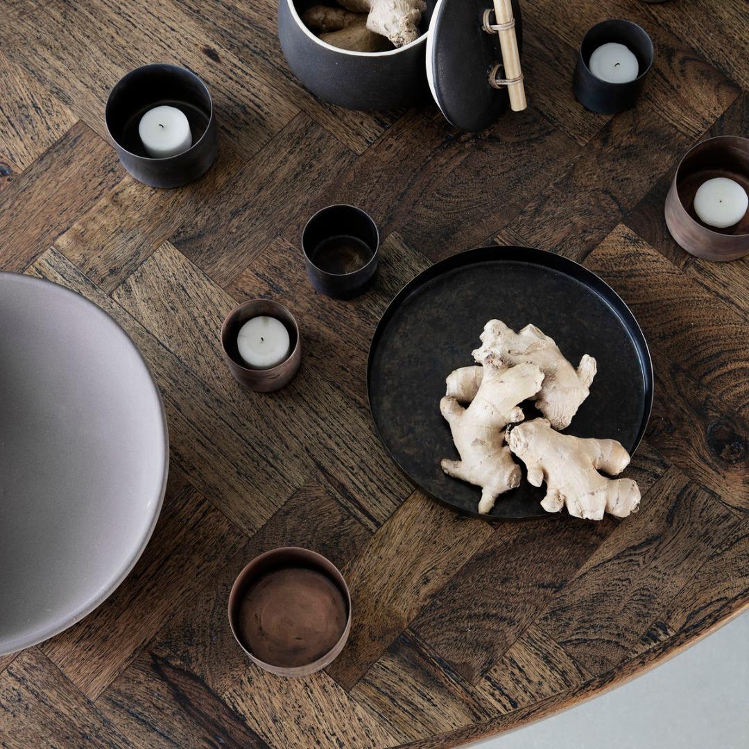 Teelicht Define Antikes braun klein