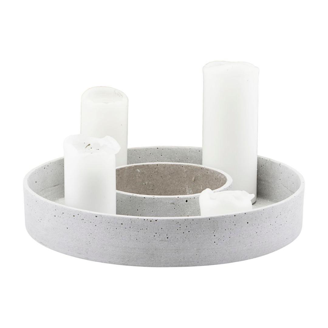 Kerzenständer the ring in Betonoptik 2
