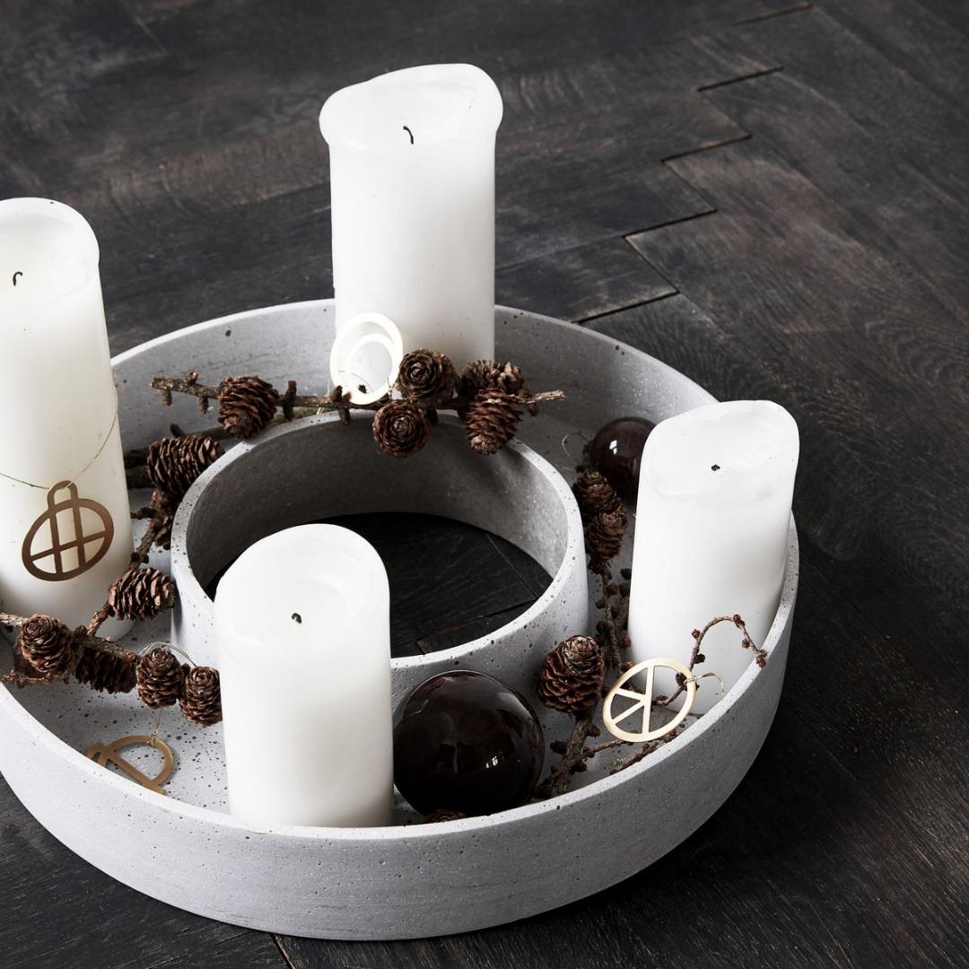 Kerzenständer the ring in Betonoptik 4