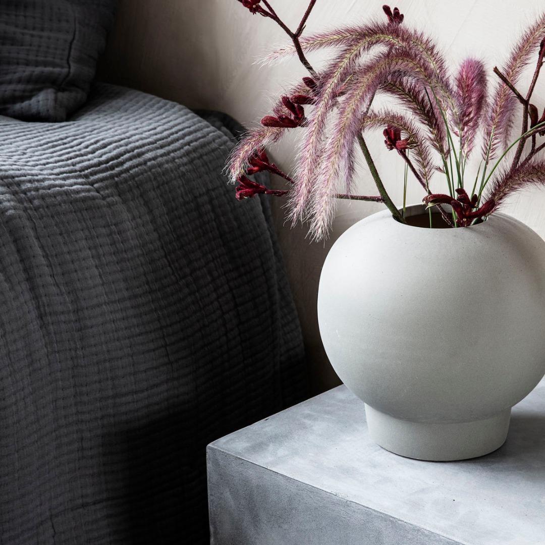Vase Bobble Dunkelgrau Finish/Farbe variieren