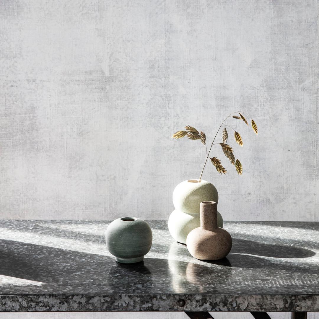 Vase Mini Bobbles Grau/Hellgrün