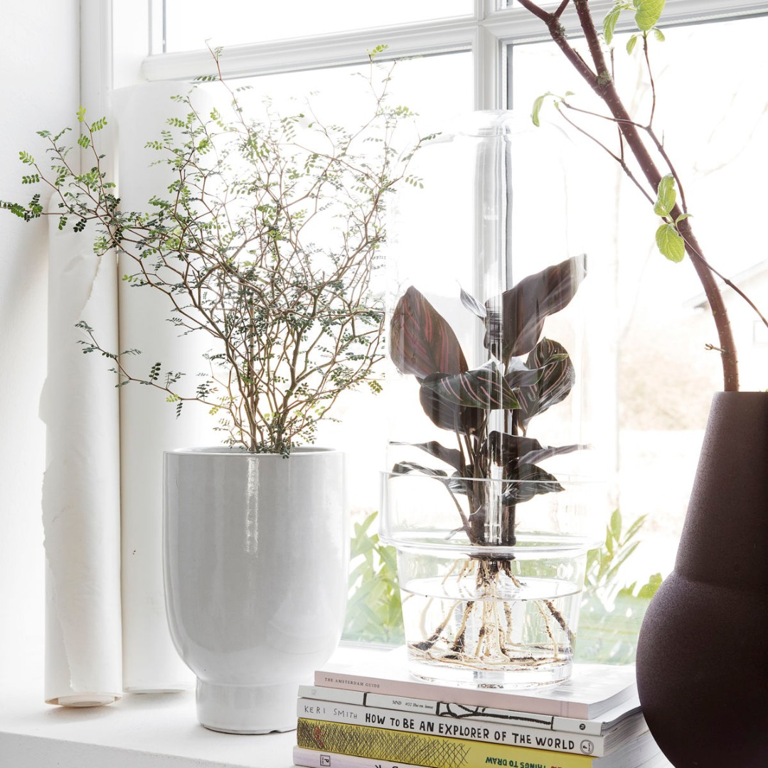 Blumentopf Weiß - H:22cm
