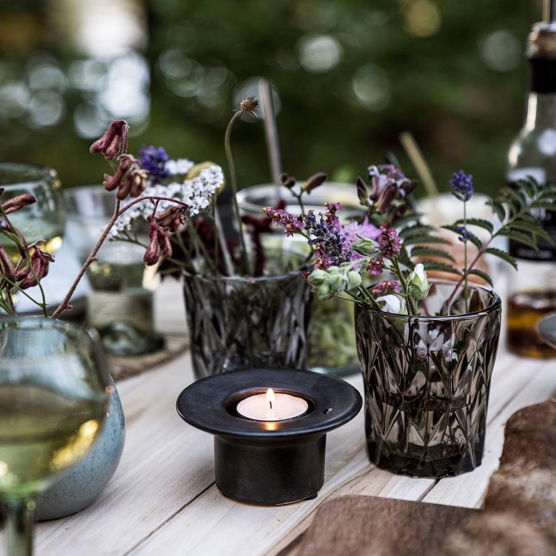Kerzenhalter Miro Mattschwarz