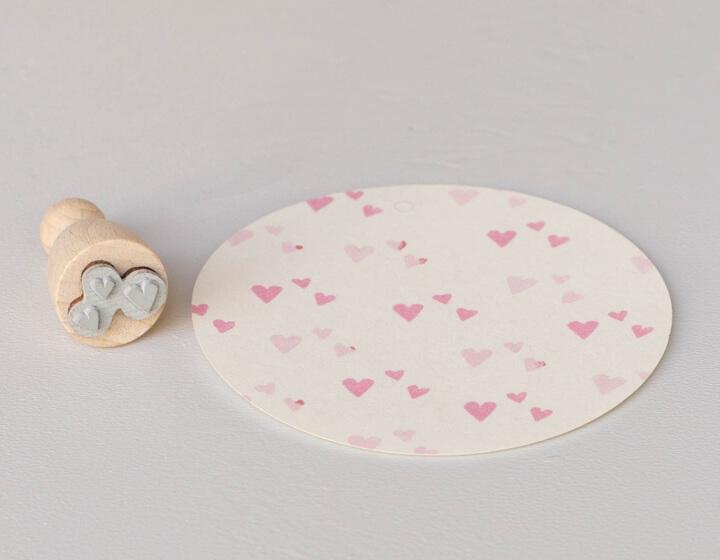 Stempel Herzkonfetti