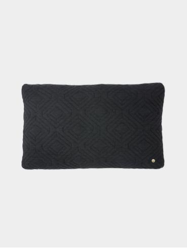 Kissen Quilt Cushion dark grey 40x25cm