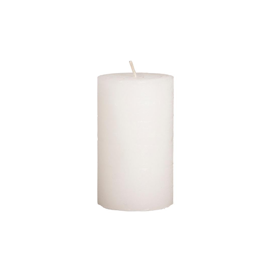 weiße Stumpenkerze H10 cm