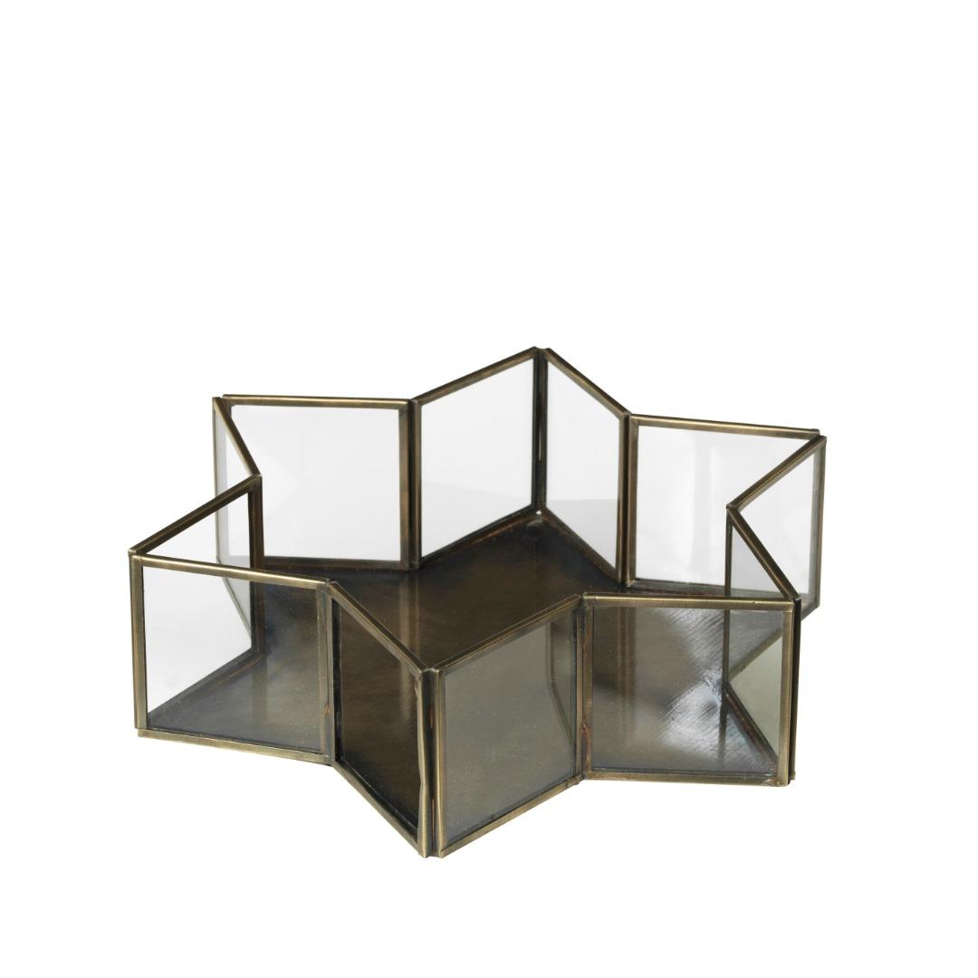 Dekoschale Janni aus Glass & Messing