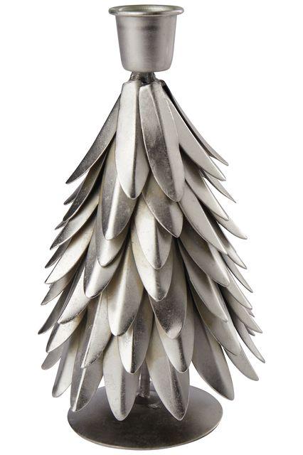 Kerzenhalter Weihnachtsbaum antik/silber
