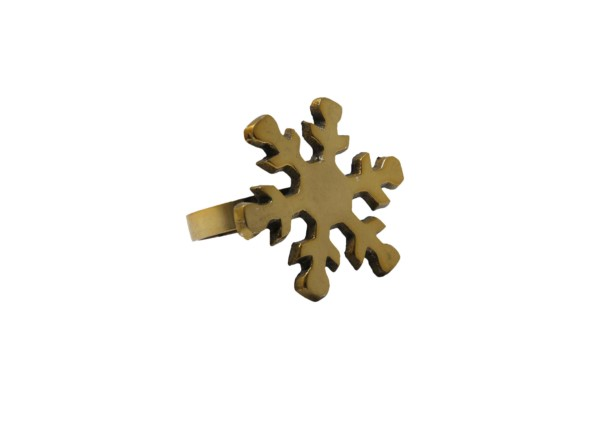 Serviettenring Snowflake / goldfarben