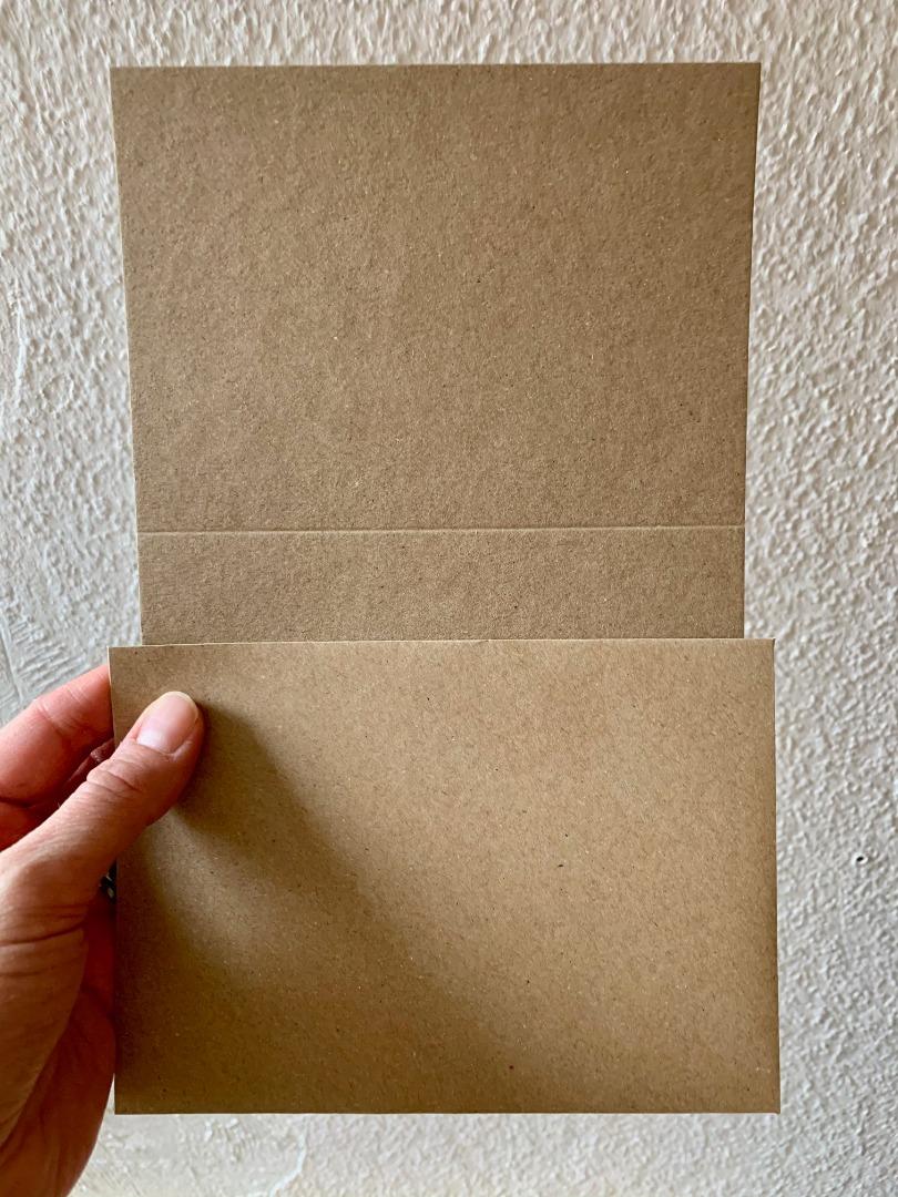 10 blanko Klappkarten mit Umschlag 2