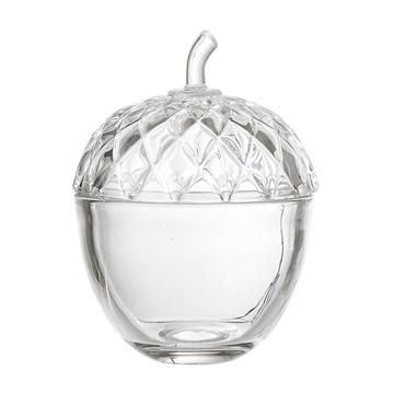Glasdose Eichel - groß
