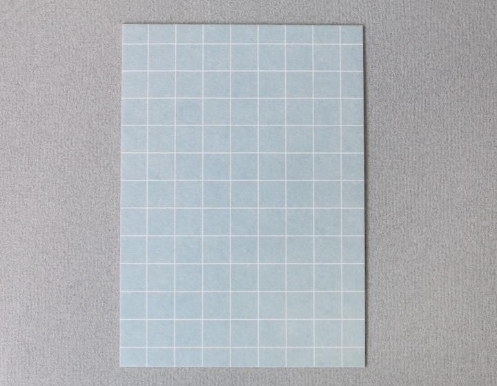 Postkarte Karo blau