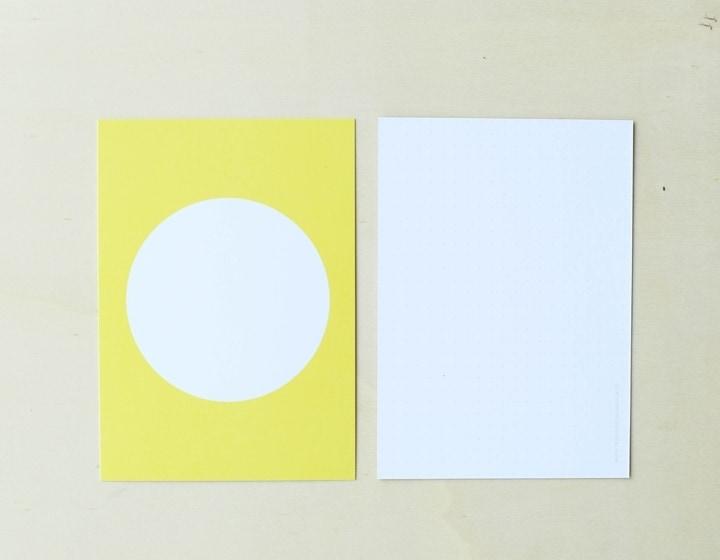 Postkarte Kreis Gelb