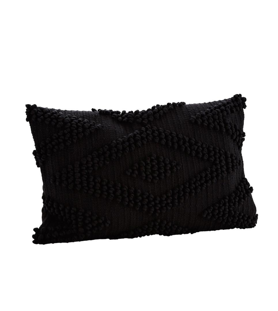 Baumwollkissenbezug schwarz
