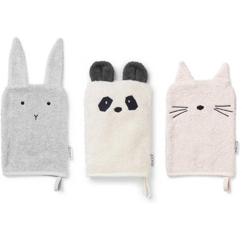 Waschtücher Hase Panda Katze - 1