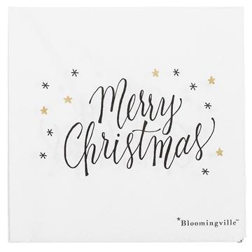 Bloomingville Serviette Merry Christmas