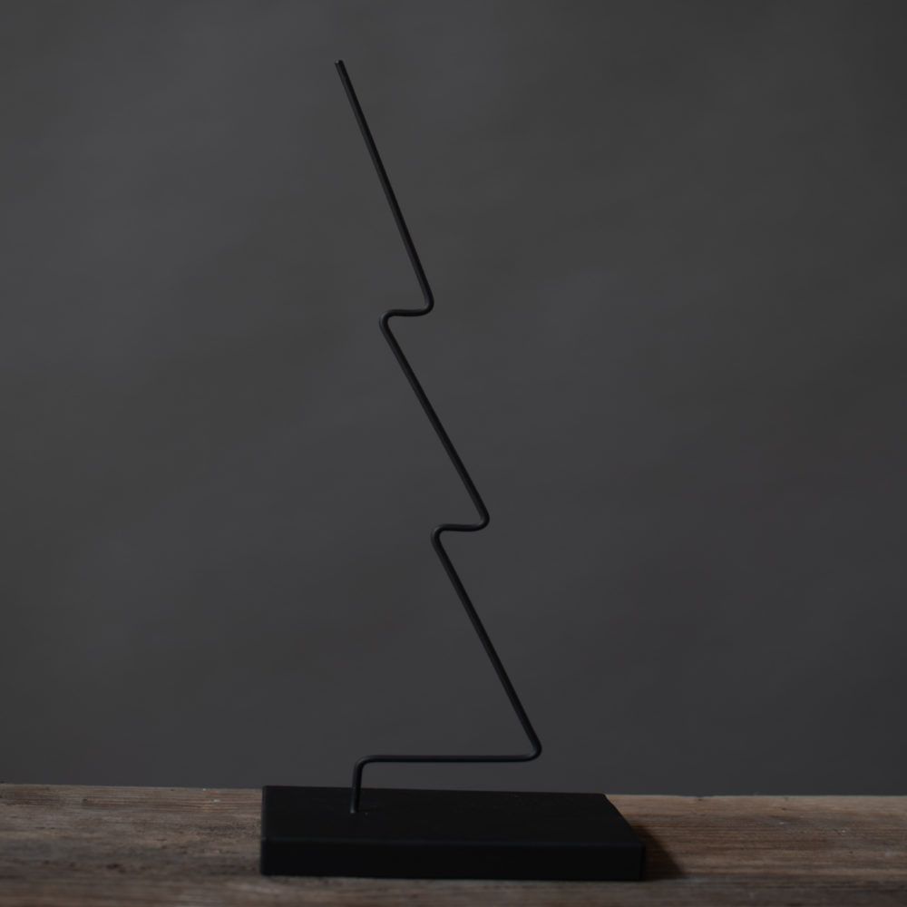 Gran- Metalldekoration / schwarz 2