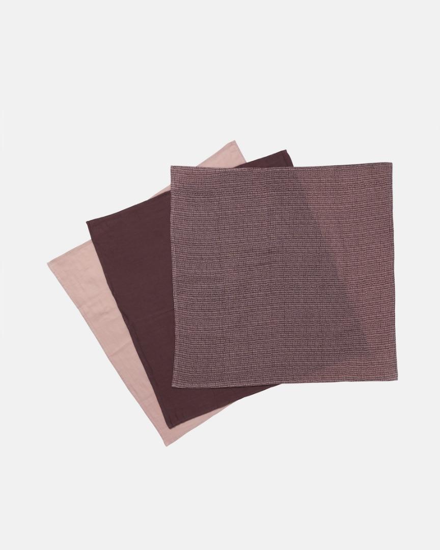 Muslin Tücher TAUPE STICKS 70 x70 cm - 2