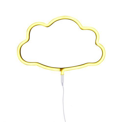 Neonstyle Lampe: Wolke - gelb
