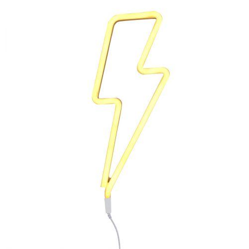 Neonstyle Lampe: Blitz - gelb