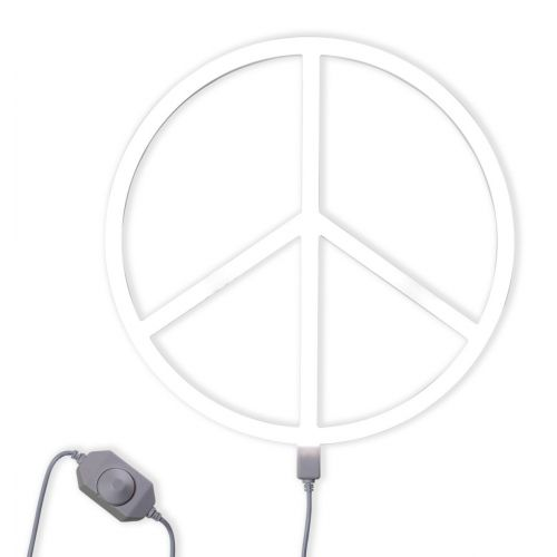 Neonstyle Lampe: Peace - weiß