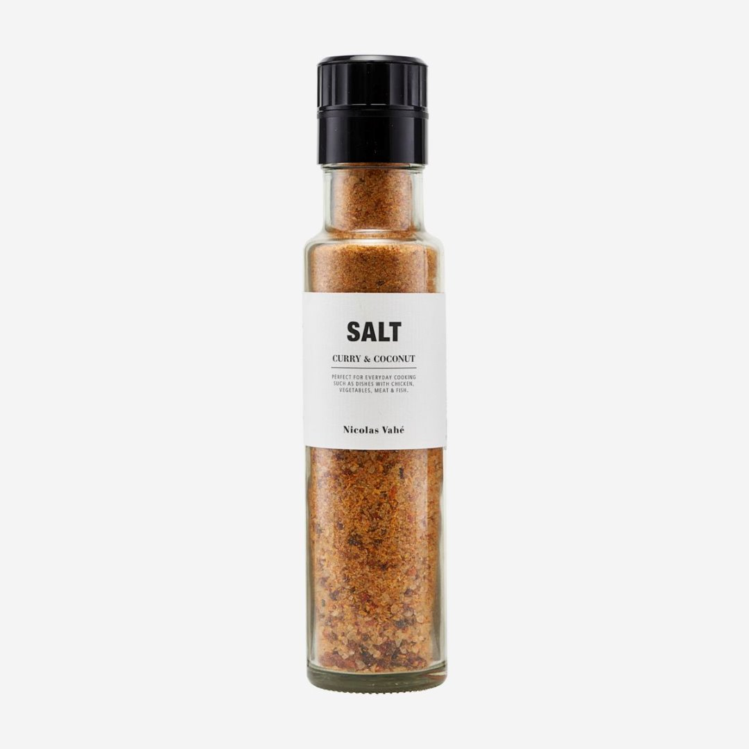 Salzmühle mit Curry und Kokosnuss 300